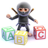3d Ninja spells Royalty Free Stock Photo