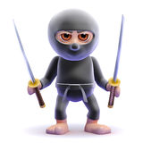 3d Ninja swords drawn Royalty Free Stock Photo