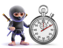3d Ninja timer Royalty Free Stock Images
