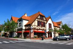 D?nisches Dorf in Solvang Kalifornien stockbild
