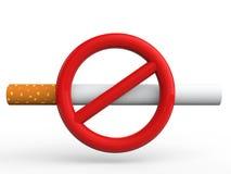 3d no smoking sign Royalty Free Stock Images