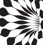 3d noir et blanc forme le vecteur Photos stock