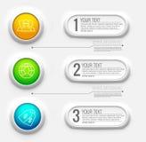 3d Nomogramm-Geschäftsdarstellung Realistisches Vektorillustrations-Konzept des Entwurfes Satz Infographic-Symbole Stock Abbildung