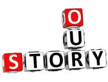 3D nossas palavras cruzadas da história Imagens de Stock Royalty Free