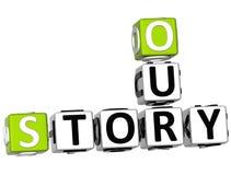 3D nossas palavras cruzadas da história Foto de Stock