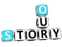 3D nossas palavras cruzadas da história Fotografia de Stock Royalty Free
