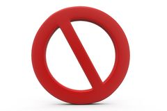 3d not allowed concept Royalty Free Stock Images