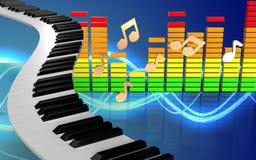 3d nota o espectro audio Imagens de Stock