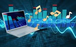 3d nota o laptop Imagem de Stock