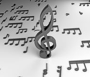 3 d notatki muzyki Obrazy Stock