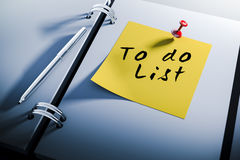 3d note book with to do list sticky note. Close up Stock Photo