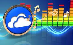 3d note le spectre audio Images libres de droits