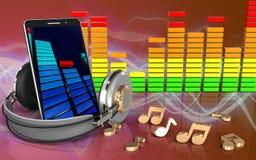 3d note le spectre audio Photos stock