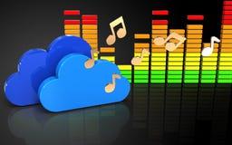 3d note le spectre audio Images stock