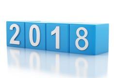 3d nouvelle année 2018 Photo libre de droits
