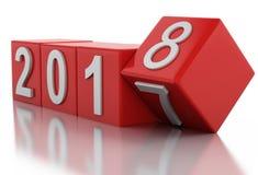 3d nouvelle année 2018 Images stock