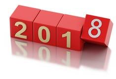 3d nouvelle année 2018 illustration libre de droits