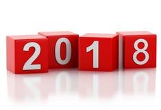 3d nouvelle année 2018 Images libres de droits