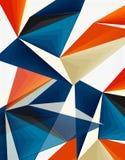 3d nowożytnego trójboka niski poli- abstrakcjonistyczny geometryczny wektor ilustracja wektor