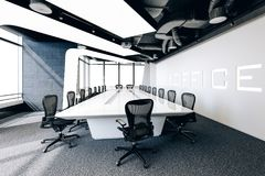 3d nowożytna biurowa sala konferencyjna Zdjęcie Stock