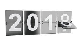 3d 2018 nowy rok Obrazy Stock