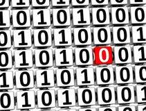3D Nr. null inneres null man blockiert Lizenzfreie Stockfotos