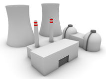 3d Nuclear power plant Stock Photos