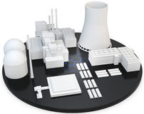 3d nuclear Power Plant Royalty Free Stock Photography