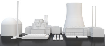 3d nuclear Power Plant Royalty Free Stock Image