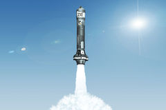 3D Nuclear Rocket Launch Royalty Free Stock Photos
