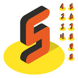 3D number icons. Vector set Stock Image