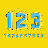 3D number icons. Vector set royalty free illustration