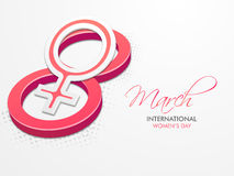 3D number 8 for International Womens Day celebration. Stock Images
