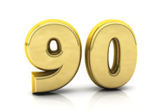 3d number ninety Stock Images