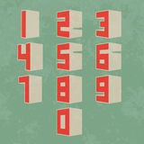 3d Number set Royalty Free Stock Image