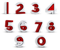 3D numbers abstract Stock Image