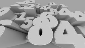 3D numbers background. Abstract 3D numbers background computer generated render Royalty Free Stock Image