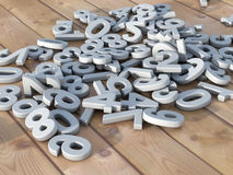 3d numbers falling Royalty Free Stock Images