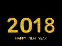 2018 3d numbers from golden dots.Happy New Year background. 2018 3d numbers from golden dots. Happy New Year background Royalty Free Stock Images