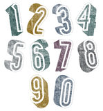 3d numbers with halftone dots textures. Stock Photography