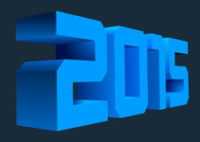2015 3D. 3D numbers. 2015 new year. Blue  symbol Stock Photo