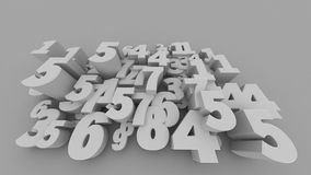3d Numbers Stock Image