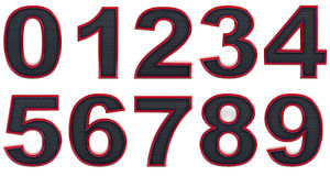 3D Numbers Set Royalty Free Stock Photos