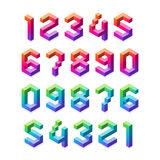 3D numbers set Royalty Free Stock Image