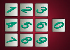 3D Numbers Stock Images
