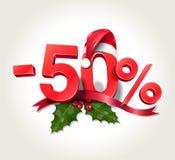 Christmas Sale - 50% Stock Image