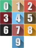 3d Numbers, Vector Illustration. Royalty Free Stock Images