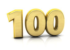 3d numero cento Fotografie Stock