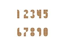 2D numero geomatic di stile fotografia stock
