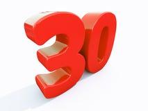 3d numero trenta Immagini Stock